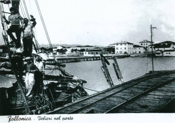 La vecchia Follonica velieri al porto